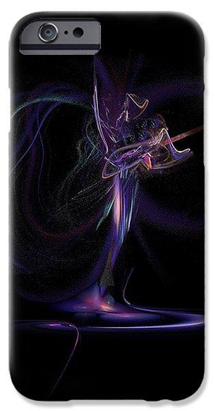 Lady of Rock iPhone Case by Viktor Savchenko