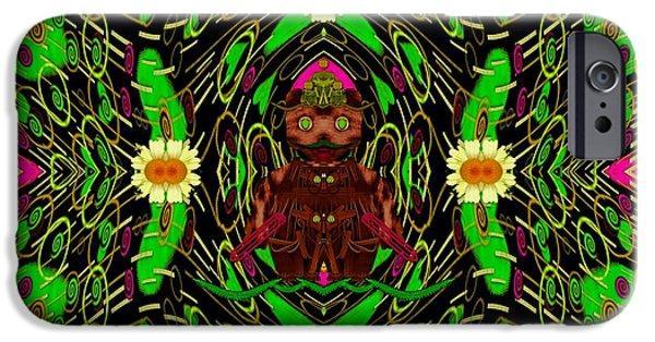 Juggling iPhone Cases - Lady Pandas Jungle Grafitti iPhone Case by Pepita Selles
