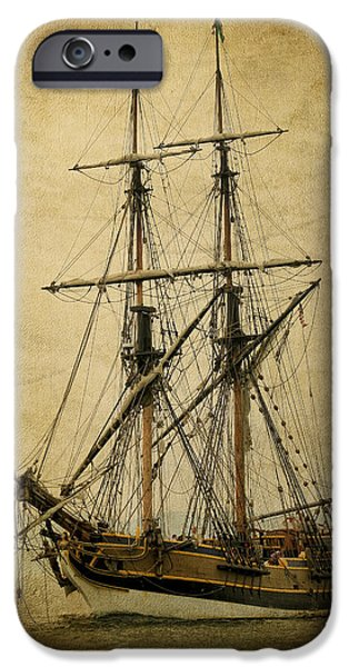 Pirate Ships iPhone Cases - Lady Washington Pirate Ship iPhone Case by Athena Mckinzie