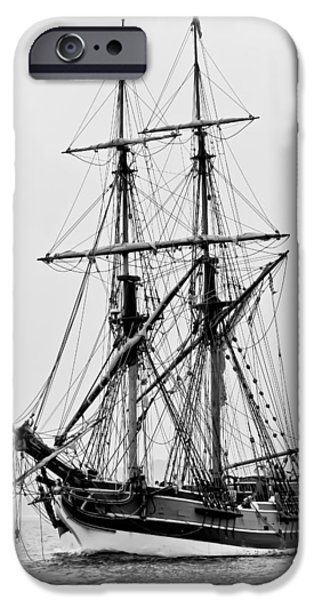 Pirate Ships iPhone Cases - Lady Washington Tall Ship iPhone Case by Athena Mckinzie