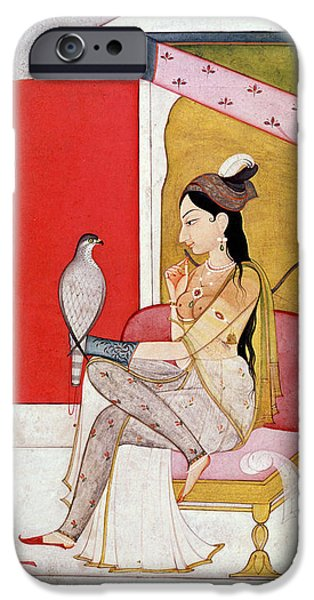 Cushion iPhone Cases - Lady with a Hawk iPhone Case by Guler School