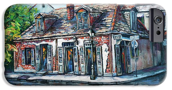Buildings iPhone Cases - Lafittes Blacksmith Shop iPhone Case by Dianne Parks