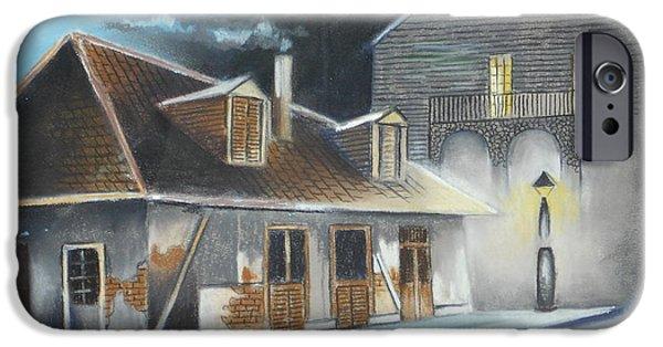 Raining iPhone Cases - Lafittes Blacksmith Shop II iPhone Case by Daniel Barrilleaux