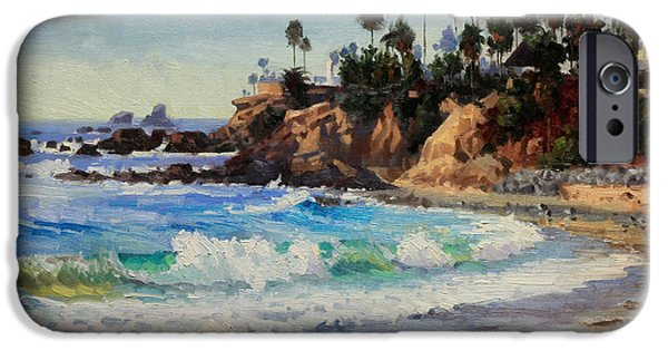 Recently Sold -  - Flying Seagull iPhone Cases - Laguna Beach  iPhone Case by Gary Kim
