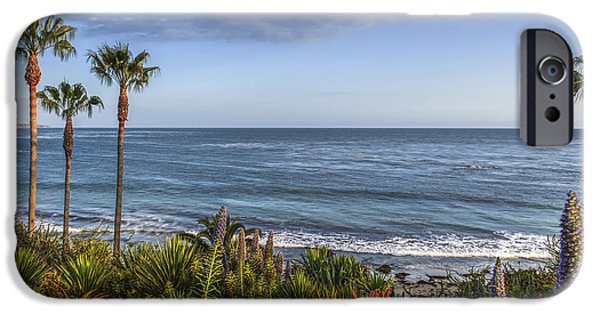 Heisler Park iPhone Cases - Laguna Beach Heisler Cove iPhone Case by David  Zanzinger
