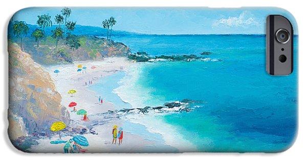 House Art iPhone Cases - Laguna Beach Umbrellas iPhone Case by Jan Matson