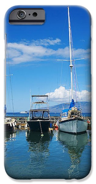 Lahaina in Blue iPhone Case by Ron Dahlquist - Printscapes