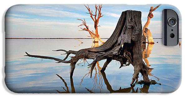 Daybreak iPhone Cases - Lake Bonney at Daybreak iPhone Case by Bill  Robinson