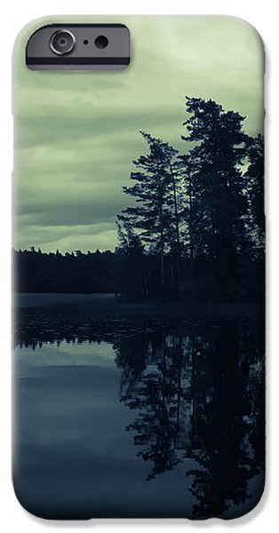 Skyscape iPhone Cases - Lake by Night iPhone Case by Nicklas Gustafsson