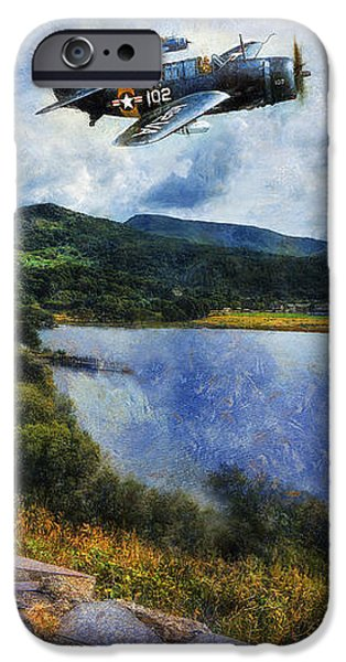 Antiques iPhone Cases - Lake Flight  iPhone Case by Ian Mitchell