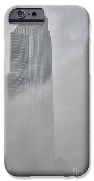 City Scape iPhone Cases - Lake fog iPhone Case by David Bearden