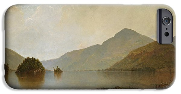 Kensett iPhone Cases - Lake George iPhone Case by John Frederick Kensett