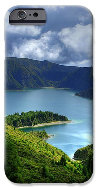 Lake in the Azores iPhone Case by Gaspar Avila