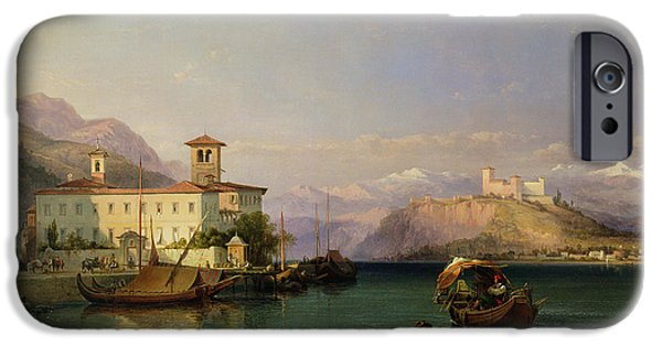 1856 iPhone Cases - Lake Maggiore iPhone Case by George Edwards Hering