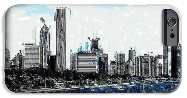 Recently Sold -  - Sears Tower iPhone Cases - Lake Michigan and the Chicago Skyline iPhone Case by Dean Wittle