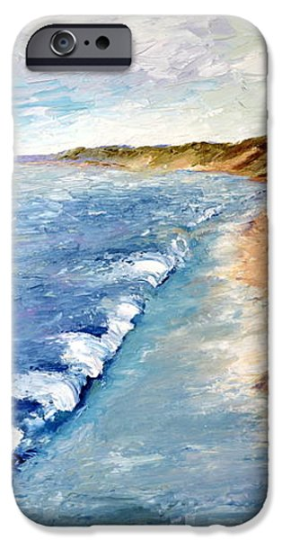 Lake Michigan with Whitecaps ll iPhone Case by Michelle Calkins