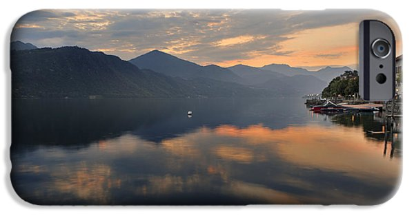 Mountain View iPhone Cases - Lake Orta iPhone Case by Joana Kruse