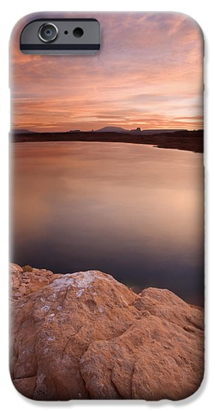 Lake Powell Dawn iPhone Case by Mike  Dawson