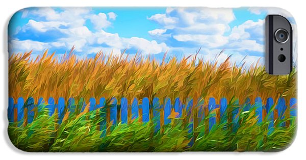 Fertility Paintings iPhone Cases - Lake Reed And Wild Water Plants 2 iPhone Case by Lanjee Chee