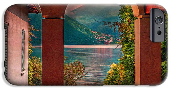 Lago Di Como iPhone Cases - Lake View iPhone Case by Hanny Heim