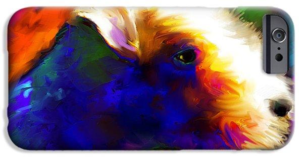 Dog Breed iPhone Cases - Lakeland terrier dog painting print iPhone Case by Svetlana Novikova
