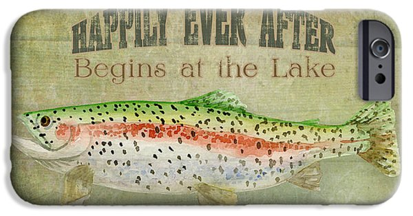 Cabin Interiors iPhone Cases - Lakeside Lodge - Happily Ever After iPhone Case by Audrey Jeanne Roberts