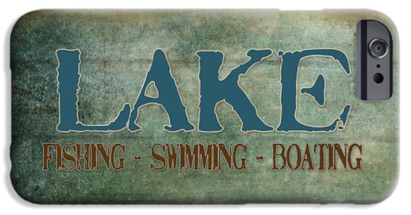 Swimming iPhone Cases - Lakeside Lodge - Lake Life iPhone Case by Audrey Jeanne Roberts