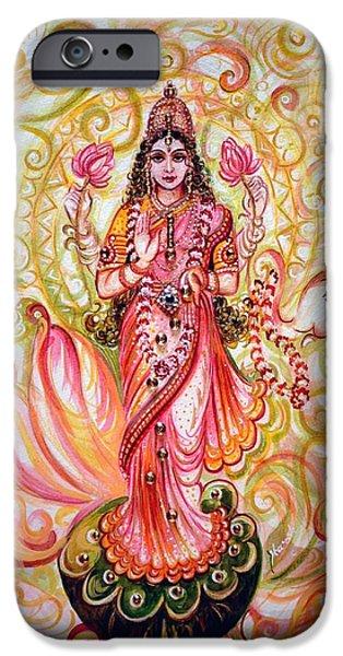 Hindu Goddess iPhone Cases - Lakshmi Darshanam iPhone Case by Harsh Malik