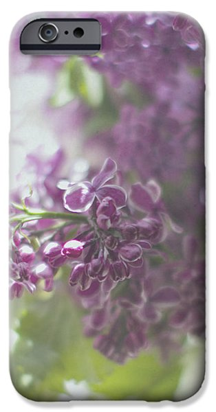 Lalac Bokeh iPhone Case by Rebecca Cozart