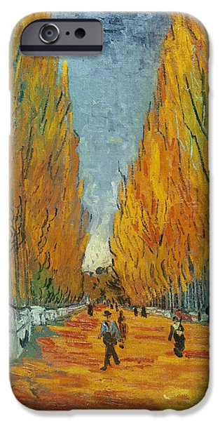 Arles iPhone Cases - LAllee des Alyscamps  Arles iPhone Case by Vincent van Gogh