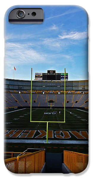 Lambeau Endzone Two iPhone Case by Ty Helbach