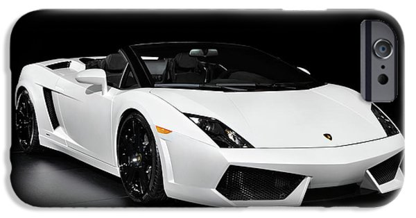 Sportcars iPhone Cases - Lamborghini Gallardo LP560-4 Spyder iPhone Case by Oleksiy Maksymenko