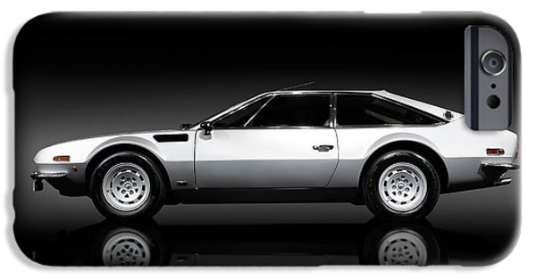 Sportcars iPhone Cases - Lamborghini Jarama 1972 iPhone Case by Oleksiy Maksymenko