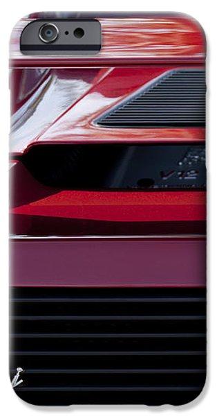 Lamborghini Rear View iPhone Case by Jill Reger