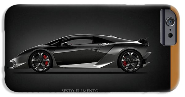 Phone iPhone Cases - Lamborghini Sesto Elemento iPhone Case by Mark Rogan