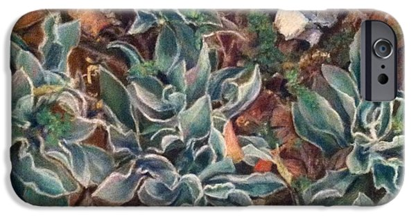 Botanical Pastels iPhone Cases - Lambs Ear in Spring iPhone Case by Gail Newman