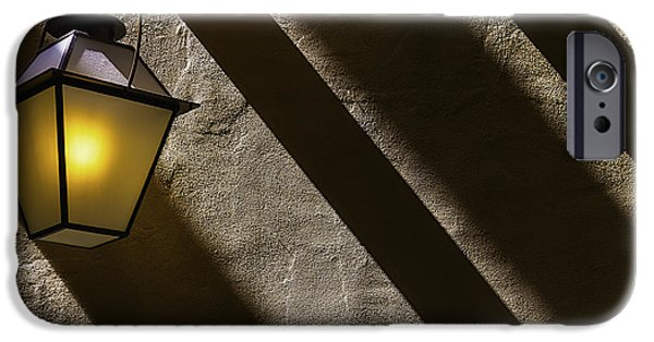 Lamp iPhone Cases - Lamp Among Shadows iPhone Case by Garry Gay