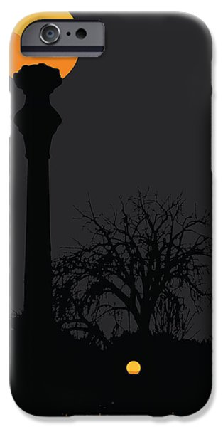 Night Lamp iPhone Cases - Lamp at Night iPhone Case by Pelo Blanco Photo