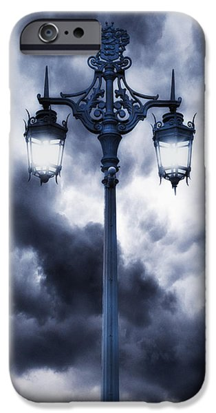 Lamp iPhone Cases - Lamp Post iPhone Case by Joana Kruse