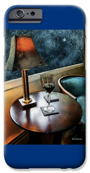 Table Wine iPhone Cases - Lamplight and Stars iPhone Case by RC deWinter