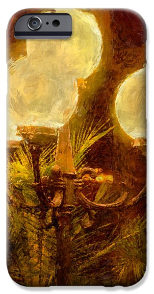 Night Lamp iPhone Cases - Lamplight iPhone Case by John Bailey