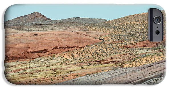 Red Rock Tapestries - Textiles iPhone Cases - Land of Hope iPhone Case by Edna Weber