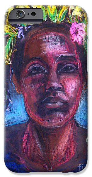 Recently Sold -  - Native American Spirit Portrait iPhone Cases - Land of Plenty iPhone Case by Gabrielle Wilson-Sealy