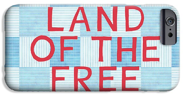 4th July Mixed Media iPhone Cases - Land Of The Free iPhone Case by Linda Woods