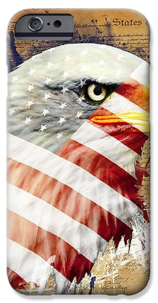 Land Of The Free iPhone Case by Robert  Adelman
