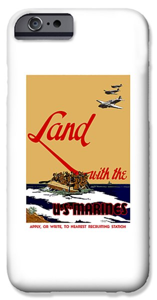 Marine iPhone Cases - Land With The US Marines iPhone Case by War Is Hell Store