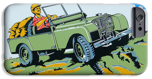 Jeep iPhone Cases - LandRover Advert - Go anywhere.....Do anything iPhone Case by Nomad Art And  Design