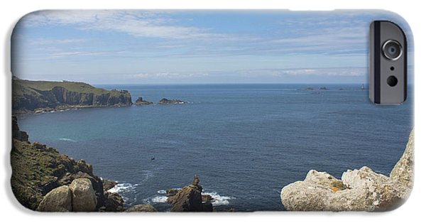 Marine iPhone Cases - Lands End From Pedn-Men-Dhu iPhone Case by Terri  Waters