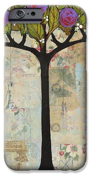 Landscape Art Tree Painting Past Visions iPhone Case by Blenda Studio