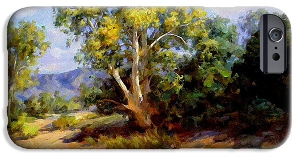Business Pastels iPhone Cases - Landscape For James And Maureen St. Clair-Wicker H B iPhone Case by Gert J Rheeders